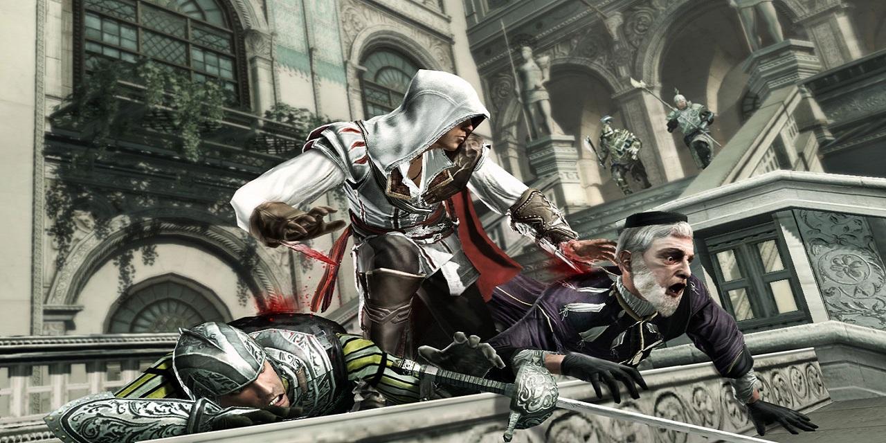 O Assassino, Ezio, executado um Templário.