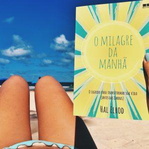 livro o milagre da manhã na praia